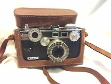 Vintage Argus C-3 35mm Rangefinder Camera w/ 50mm Lens and Leather Case