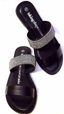 sz 7 / 38 TS TAKING SHAPE Glitterati Slide black crystal bling wide shoes NIB!