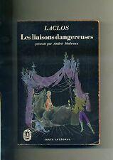 Laclos # LES LIAISONS DANGEREUSES # Librairie Gallimard 1952