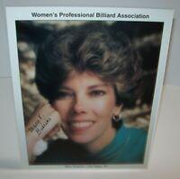 Mary Guarino Women's Professional Billiard Signed Autograph Photo Pool Vintage