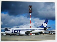 LOT Polish Airlines Boeing 737-55D postcard