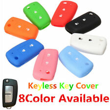 2 Buttons Silicone Fob Remote Key Case Cover Shell 8 Colors For Nissan Qashqai