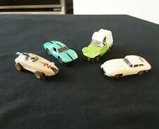 My Last 4 ! Vintage Aurora T-jet Slot Cars Jaguar  Sand Van Grand Prix  Ferrari