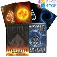 2 DECKS BICYCLE 1 STARGAZER AND 1 SUNSPOT PLAYING CARDS TRICKS USPCC NEW