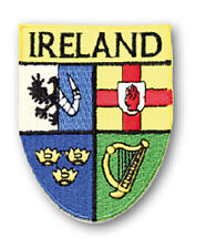 Irish Ireland Crest Shield Embroidered Sew-on Cloth Badge Patch Appliqué