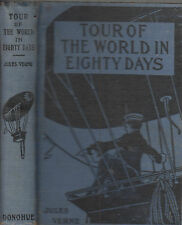 Tour of The World In Eighty Days. Jules Verne. Chic. N.D,. circ. 1910?? vintage
