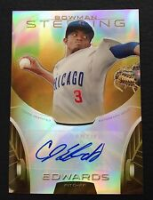 #1/50 CJ Edwards 2013 Bowman Sterling Gold Refractor Auto RC