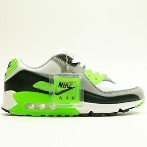 Nike Air Max 90 White Particle Grey Green Lime CW5458 100 Sneakers Shoes