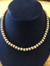 """Vintage Sterling Silver Bead Ball Strand Necklace On Chain Mexico 16.5"""""""