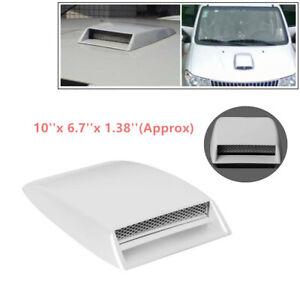 Car Decorative Air Flow Intake Scoop ABS Hood Aluminum Grille Mesh Vent Cover