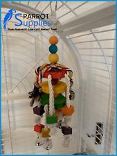 Parrot-Supplies 52cm Five Bells Medium Wood & Rope Bird Parrot Toy - 00051