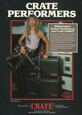 Whitesnake Adrian Vandenberg 1988 Crate G60GT guitar amp 8 x 11 ad print