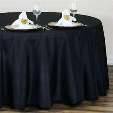 10 Pack - 120 in. Round Seamless Polyester Tablecloth Wedding Party Banquet