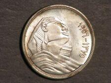 EGYPT 1956 10 Piastres Sphinx Silver BU