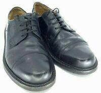 Ecco Austin Oxford Mens EUR 41 US 7-7.5 Black Leather Lace Up Cap Toe Dress Shoe