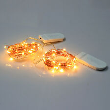 10ft 30LED Copper Wire Starry String Lights Battery Powered Rope Light for Xmas