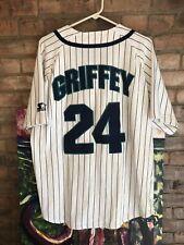 Vintage Seattle Mariners Jersey Ken Griffey Jr Starter Baseball Pinstripe 90s L