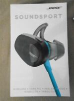 Bose SoundSport Wireless Headphones In-Ear Bluetooth NFC Aqua New SEALED