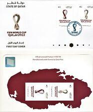 Qatar 2022 FIFA world cup official miniature sheet & FDC football soccer sports