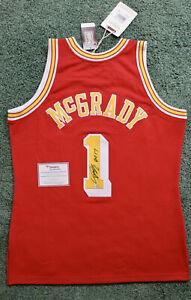 Tracy McGrady Autographed Houston Rockets M&N Authentic Jersey HOF 17 Fanatics
