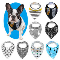Adjustable Cute Pet Bandanas Scarf Collar for Dog Cat Pack 4 Dog Neckerchief