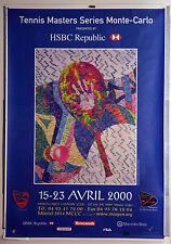 AFFICHE ANCIENNE ORIGINALE- TENNIS MASTER SERVICE -MONTE CARLO - AVRIL 2000-