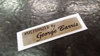 Iverson Kustomized by George Barris DECAL STICKER for Banana Muscle Bike Bicycle