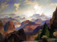 Large Oil painting Thomas Moran - The Grand Canyon & mountains landscape canvas