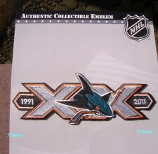 Official NHL 1991 - 2011 San Jose Sharks 20th XX Anniversary Collectible Patch