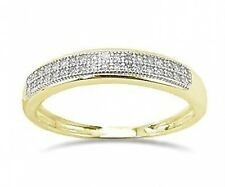 10K Diamond Band 10K Yellow Gold Micro-Pave Diamond Band - Stackable .10ct