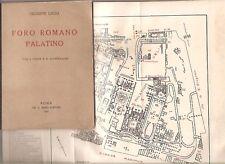 FORO ROMANO PALATINO LUGLI BARDI 1949 PRIMA EDIZIONE MAPPA CARTA TOPOGRAFICA