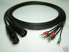 2 x 1' Adaptor cables Lug to XLR for UREI LA2A LA3A 1176, PULTEC, etc.