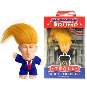PRESIDENT DONALD TRUMP COLLECTIBLE TROLL DOLL MAKE AMERICA GREAT AGAIN FIGURE.