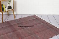 Handgefertigt Indisch Chindi Teppich 100% Recycelt Baumwolle Groß Gewebte Boden
