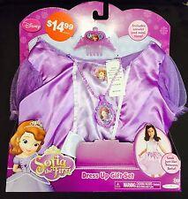 New DISNEY SOFIA THE FIRST Dress Up & Play Gift Set-Dress, Amulet & Mini Tiara