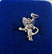 Sterling Silver 3D 22x15x8mm Adorable Tooth? Fairy with wand Charm!