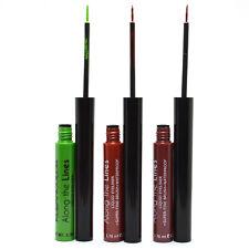 Kleancolor 3 Eyeliner Green Brown Copper Liquid fine Brush Waterproof 3LELINER07