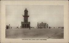 Fleetwood UK Esplanade & Lighthouse c1910 Real Photo Postcard