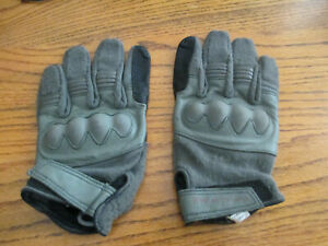 Line of Fire Grey Operator Gloves w/ Hard Knuckles - Size Large