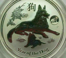 2018 1OZ Silver .9999 Iconic Perth Mint Lunar Year of The Dog with Lion Privy
