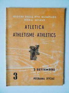 1960 Olympic Games Program Track Field Athletics 7 Sep OERTER-DT  WILMA RUDOLPH