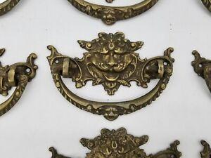 RARE ANTIQUE FRENCH CAST BRONZE DRAWER PULL GARGOYLE HANDLE 19TH CENTURY