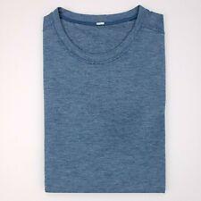 Lululemon Small Tee Shirt Blue Mens Size S Crewneck Heather Athletic T-Shirt Man