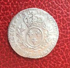 France - Louis XV - Rare 1/10 d'Ecu 1730 Besancon
