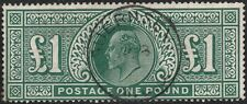 1911 SOMERSET HOUSE SG320 £1 DEEP GREEN GUERNSEY CDS VERY FINE USED