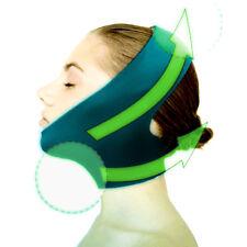 Wrinkle Free Cheek Mask V Face Line Chin Jaw Slim Lift Up Warm Belt Dark Green i