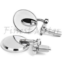 "7/8"" Motorcycle 3""Round Bar End Mirrors For 2004-2005 Suzuki GSXR 600 750 04 05"