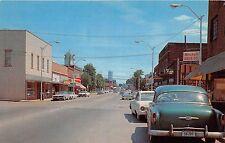A11/ Crossville Tennessee Tn Postcard Chrome Main Street Cars Drug Store