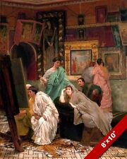 ANCIENT ROMAN ART GALLERY CAESAR AUGUSTUS PAINTING ROME ART REAL CANVAS PRINT