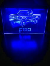 Ford 150 Truck Led Neon Blue Light Sign 8x12